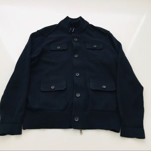 Banana Republic Navy Buckle  Pocket Sweater Jacket